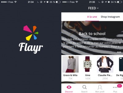 Screenshot application Flayr