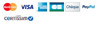 Les différents logos pour le paiement