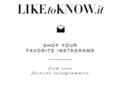 Outil de shopping Instagram LIKEtoKNOW