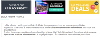 Le site Black Friday français
